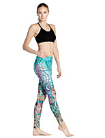 cheap -Women's Basic Casual Comfort Daily Gym Leggings Pants Animal Ankle-Length Patchwork Print Green