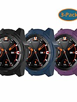 cheap -fit for ticwatch s2 protective case bumper, hard pc shock-proof protector bumper sleeve shell cover case for ticwatch s2 smartwatch (black blue purple)