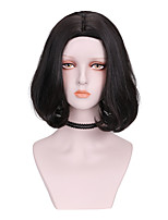cheap -Synthetic Wig Curly Bob Wig Short Brown Black Synthetic Hair 10 inch Women's Comfy Fluffy Black Brown