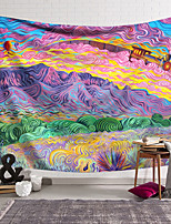 cheap -Wall Tapestry Art Decor Blanket Curtain Hanging Home Bedroom Living Room Decoration Polyester Hippie Mountains Psychedelic Abstract
