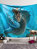 cheap -Wall Tapestry Art Decor Blanket Curtain Hanging Home Bedroom Living Room Decoration Polyester Fiber Animal Deep Sea Dragon Lanting Design