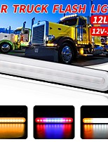 cheap -1Pcs 12V-24V 12Led Lamp Light Car Trailer Truck SUV Pickup Van Side Marker Light Emergency Beacon Warning Flash Strobe Turn Light Bar 8 Light Colors To Choice