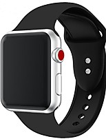 cheap -silicone watch band 42mm 40mm 44mm 38mm  fit for women/ men fashion casual or sports watch bands for apple/ iwatch series 6/se/5/4/3 series 2 series 1. (black)