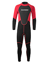 cheap -Men's Full Wetsuit 2mm SCR Neoprene Diving Suit Windproof Quick Dry Long Sleeve Back Zip Patchwork Autumn / Fall Spring Summer