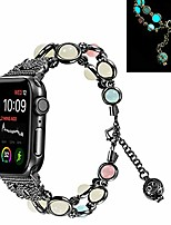 cheap -iwatch 4 40mm women bands,,  fashion handmade faux pearl natural stone night luminous bracelet strap women wristband for iwatch series5/4/3/2/1 38mm 40mm (38mm 40mm,black)