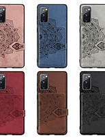 cheap -Case For Samsung Galaxy Samsung Galaxy M10 / Samsung Galaxy A10 / Samsung Galaxy A20 Card Holder / Shockproof / Embossed Back Cover Solid Colored PU Leather / TPU