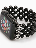 cheap -Watch Band for Apple Watch Series 6 / SE / 5/4 44mm / Apple Watch Series 6 / SE / 5/4 40mm / Apple Watch Series 3/2/1 38mm Apple Jewelry Design Elastic Beaded Wrist Strap