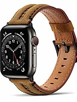 cheap -bands compatible with apple watch band 38mm 40mm, genuine leather handmade replacement wristband strap compatible with iwatch se series 6 5 4 3 2 1 (38mm/40mm, brown)