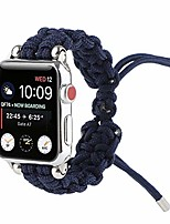 cheap -pure color watch replacement bands compatible with apple watch 38/40/42/44mm, braided rope bracelet strap for iwatch series 6/5/4/3/2/1, sports edition and se, for women/men,blue,38mm