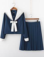 cheap -Inspired by JK Schoolgirls Skirt Cosplay Costume Polyester / Cotton Blend Color Block Cravat For Women's / Top / Top