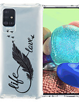 cheap -Case For Samsung Galaxy S20 Plus / S20 / Galaxy A41 Shockproof Back Cover Word / Phrase / Feathers TPU