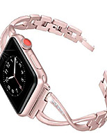 cheap -metal strap for apple watch band 42mm 44mm series 6 se 5 4 3 2 1 accessories slim cross design with rhinestones replacement bracelet for women and girls