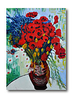 cheap -100% Hand Painted Oil Paintings on Canvas Modern Stretched and Framed Grace Abstract Van Gogh Flower Artwork Ready to Hang