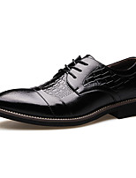 cheap -Men's Oxfords Business Daily Office & Career Walking Shoes PU Breathable Non-slipping Wear Proof Black Brown Spring Fall