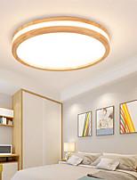 cheap -30/40/50cm LED Ceiling Light Round Square Wood Nordic Modern Flush Mount Lights Painted Finishes Nature Inspired Style 110-120V 220-240V