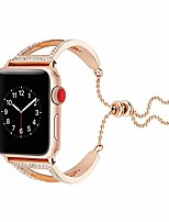 cheap -watch strap 38/40 / 42 / 44mm stainless steel metal diamond bracelet watch band replacement band compatible with apple watch iwatch series 4 3 2 1 (rose gold, 44mm)