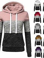 cheap -women pullover casual plus size patchwork pocket hooded sweatshirt tops pink