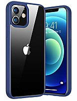 cheap -diamond clear case compatible with iphone 12/12 pro blue