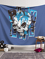 cheap -Wall Tapestry Art Decor Blanket Curtain Hanging Home Bedroom Living Room Decoration Polyester Fiber Novelty Still Life Skull Skull Kill Matt Blue White Black