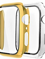 cheap -[2 pack hard case compatible with apple watch 38/40/42/44mm with built-in anti-scratch tpu screen protector film,360 shockproof cover for iwatch series se/6/5/4/3/2/1-yellow gold/clear