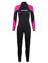 cheap -Women's Full Wetsuit 2mm SCR Neoprene Diving Suit Windproof Quick Dry Long Sleeve Back Zip Patchwork Autumn / Fall Spring Summer