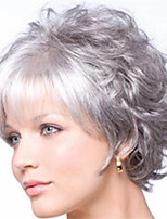 cheap -Synthetic Wig Curly Pixie Cut Wig Short Silver grey Synthetic Hair Women's Soft Cool Comfy Silver Dark Gray