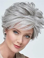 cheap -Synthetic Wig Curly Pixie Cut Wig Short Grey Synthetic Hair Women's Soft Comfy Dark Gray