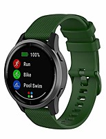 cheap -compatible with garmin vivoactive 4s / vivomove 3s band 18mm replacement soft colourful silicone sport straps soft wristbands bracelet for vivoactive 4s & 3s watch band (green)