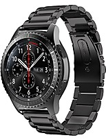 cheap -compatible for samsung gear s3 frontier/classic strap 22mm stainless steel wrist strap bracelet wristband replacement strap for samsung galaxy watch 46mm / gear s3 frontier/classic, black