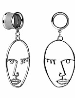 cheap -ear plug tunnel gauge stretcher piercing face design pendant stainless steel screw 00g