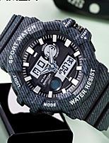 cheap -SANDA Men's Digital Watch Digital Sporty Classic Water Resistant / Waterproof Analog - Digital Black Blushing Pink Green / One Year / Rubber / Japanese