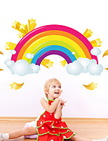 cheap -Rainbow Wall Stickers Plane Wall Stickers / Holiday Wall Stickers Decorative Wall Stickers PVC Home Decoration Wall Decal Wall / Window Decoration 1pc