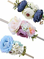 cheap -baby girl floral headbands set - 3pcs flower crown newborn toddler hair accessories by