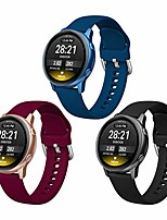 cheap -sport bands compatible with samsung galaxy watch 3 41mm / galaxy watch active 2 44mm / active 40mm, 3 pack 20mm soft silm silicone replacement strap for galaxy watch 42mm smartwatch women men