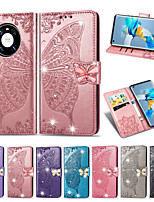 cheap -Case For Huawei Mate 10 lite / Huawei Mate 20 lite / Huawei Mate 20 pro Card Holder / Shockproof / Embossed Full Body Cases Solid Colored PU Leather / TPU
