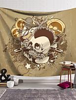cheap -Wall Tapestry Art Decor Blanket Curtain Hanging Home Bedroom Living Room Decoration Polyester Fiber Novelty Still Life Skull Skull Kill Matt Music Guitar Pistol Rose