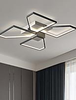 cheap -50 cm LED Ceiling Light Modern Square Geometric Design Black Gold Flush Mount Lights Living Room Bedroom Metal Painted Finishes 220-240V