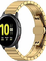 cheap -metal bands compatible with samsung galaxy watch active 2, fundiscount 20mm stainless steel replacement bracelet wristband strap compatible with galaxy watch active2 40mm/44mm (gold)