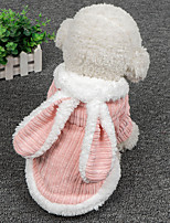 cheap -Dog Coat Hoodie Animal Rabbit / Bunny Animals Cute Casual / Daily Winter Dog Clothes Puppy Clothes Dog Outfits Breathable Pink Gray Costume for Girl and Boy Dog Cotton XS S M L XL XXL