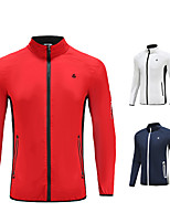 cheap -Men's Golf Jacket Long Sleeve Windproof Breathable Quick Dry Sports Outdoor Autumn / Fall Spring Winter White Red Dark Navy / Stretchy