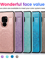 cheap -Case For Huawei HUAWEI P40 / HUAWEI P40 Pro / HUAWEI P40 Pro+ Shockproof Back Cover Solid Colored PU Leather