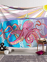 cheap -Wall Tapestry Art Decor Blanket Curtain Hanging Home Bedroom Living Room Decoration Polyester Fiber Animal Painted Giant Octopus Small Sailboat Lanting Design