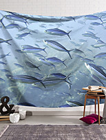 cheap -Wall Tapestry Art Deco Blanket Curtain Hanging Home Bedroom Living Room Dormitory Decoration Polyester Fiber Animal Ocean Fish