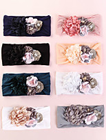 cheap -1pcs Toddler / Infant Girls' Active / Sweet Rose Floral Floral Nylon Hair Accessories White / Black / Yellow One-Size