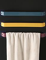 cheap -Bathroom Paste Non-perforated Towel Rack Single Rod Simple Straw Wwall Hanging Rag Rack Bathroom Thickening Rack