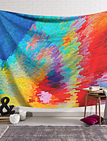 cheap -Oil Painting Style Wall Tapestry Art Deco Blanket Curtain Hanging Home Bedroom Living Room Dormitory Decoration Polyester Abstract Columnar Ray