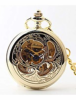 cheap -pocket watch pocket watch gold/silver glass mirror mechanical watch alloy round men and women wall watch with chain (color : a)
