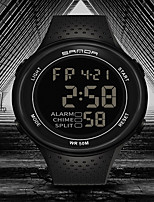 cheap -SANDA Men's Digital Watch Digital Sporty Classic Water Resistant / Waterproof Digital Rose Gold Black / Silver Black / Yellow / One Year / Rubber / Japanese
