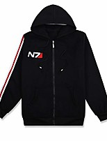 cheap -anime n7 cosplay costume black hoodie jacket sweater outfit (s)