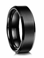 cheap -men wedding black tungsten ring engagement band matte finish beveled polished edge wedding band comfort fit 8mm size 7-13 (11.5)